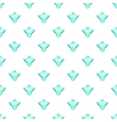 Ghost pattern cartoon style vector