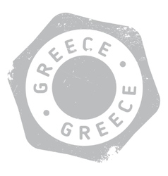 Greece stamp rubber grunge vector image