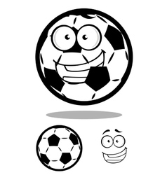 Happy cartoon soccer ball or football character vector image vector image