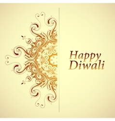 Happy diwali greeting card vector
