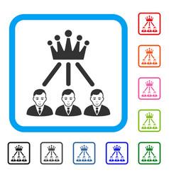 Hierarchy men framed positive icon vector