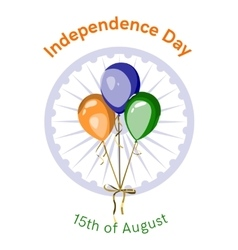 Independence day of india design vector