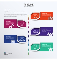 Infographic timeline showing business plan with vector