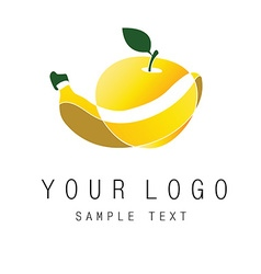 logo fruits vector image