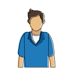 Man faceless cartoon vector