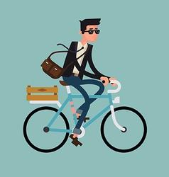 Man Riding a Bike vector image vector image