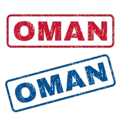 Oman rubber stamps vector