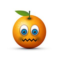 Orange sick emoji vector