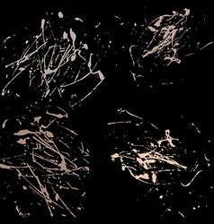 Pastel splatter paint abstract black background vector