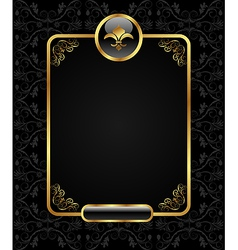 royal background with golden frame - vector image vector image