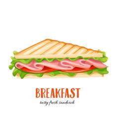 sandwich wich ham vector image