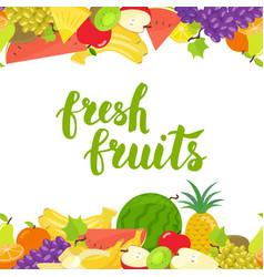 Seamless fruits horizontal border vector