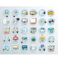 Set of Business Promotion Internet Shopping vector image