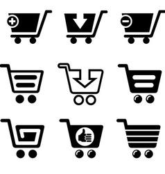 ShopCartSet vector image vector image