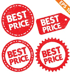 Stamp sticker best price tag collection - - vector