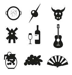Symbols of spain vector
