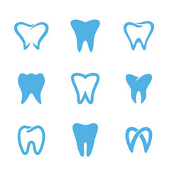 teeth logo white vector image