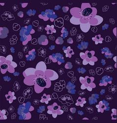 trendy flower sakura background seamless pattern vector image