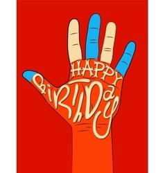 Typographical retro Birthday Card vector image