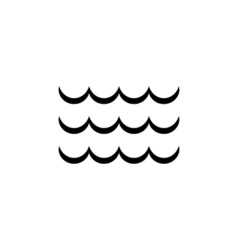 Wave Icon Flat vector image
