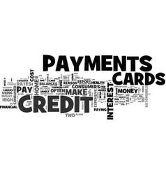 Wise use of credit cards text word cloud concept vector