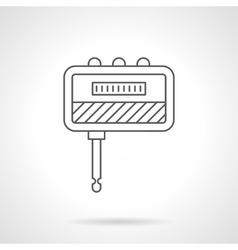 Guitar headphone amp flat line icon vector image