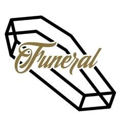 Color vintage funeral emblem vector