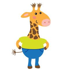 cute cartoon giraffe vector image