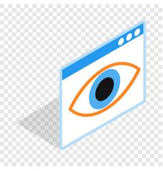 file hide isometric icon vector image