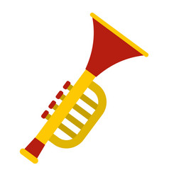 colorful trumpet toy icon isolated vector image