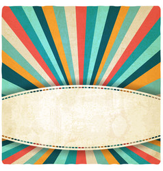 Retro colors striped vintage background vector