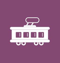 Icon tram silhouette vector