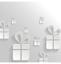 Abstract background with gifts vector
