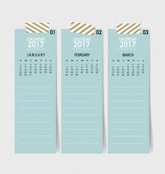 2017 Calendar planner design template vector image vector image