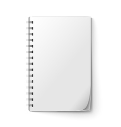 Realistic notepad blank vector image