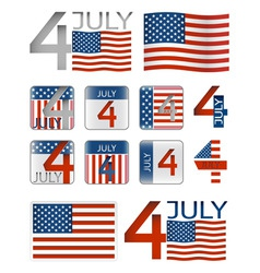 4 july vector image