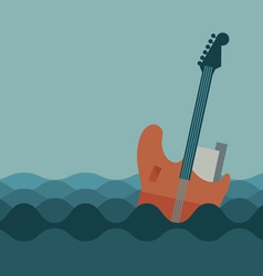 Floating guitar vector