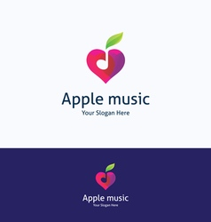 Apple music love logo vector