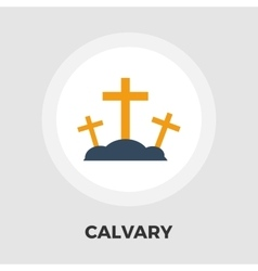 Calvary flat icon vector