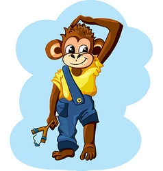 Cartoon monkey boy vector