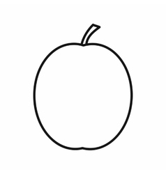 Fresh apricot icon outline style vector