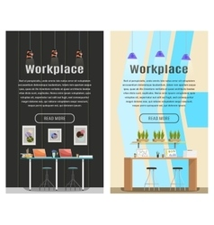 Two vertical banner for web design vector