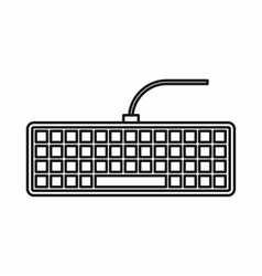 Black computer keyboard icon outline style vector