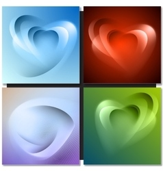 Abstract background with light lines and shadows vector image vector image