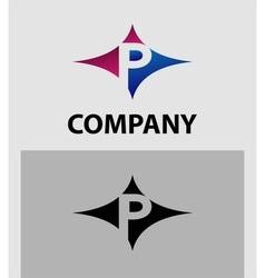 Alphabet icon p logo vector
