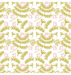 beautiful leaves pattern background vector image