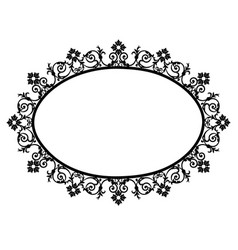 black oval frame vector image vector image