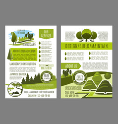 brochure for green landscape eco design vector image vector image