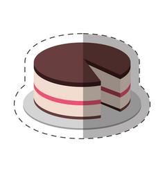 Cake dessert food shadow vector