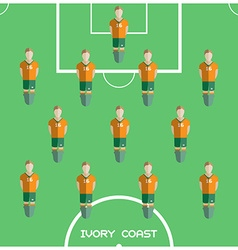 Computer game ivory coast football club player vector